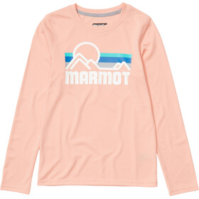 Marmot Windridge Longsleeve Meisjes, pink lemonade